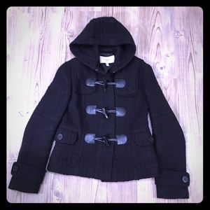 BURBERRY Wool Toggle Hoodies Coat